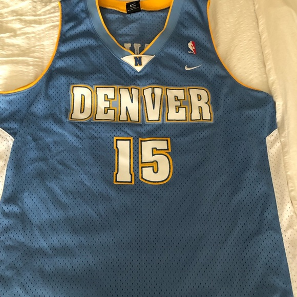 finest selection 3c457 473a4 Carmelo Anthony Baby Blue Nuggets Jersey XL +2